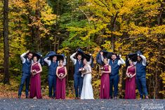 Marly and Mike had their autumn wedding at Saraguay House in Halifax, Nova Scotia, with photos at Dingle Park (aka Sir Sandford Fleming Park) Rainy Wedding, Autumn Wedding, Formal Wedding, Wedding Group Photos, Party Photos, Park Weddings, Umbrellas, Fashion, Moda