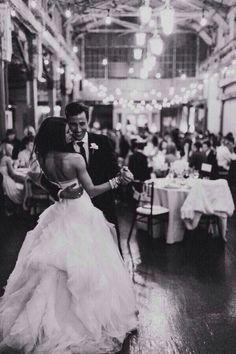 Wedding. Bride and groom. Dance