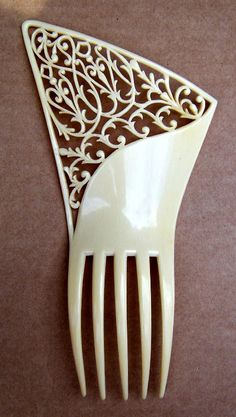 French Ivory hair comb Art Deco Spanish comb hair accessory