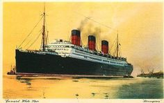 Cunard White Star Line Berengaria Passenger Ship Advertising Vintage Postcard - Moodys Vintage Postcards - 1