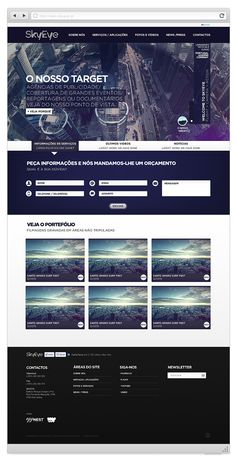 Skyeye - Official Website by Joel Filipe, via Behance