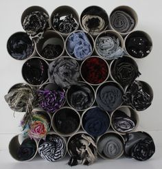 Cool way to storage your scarves #scarves #storage #organize #DIY