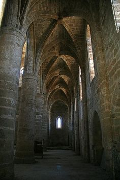 Famagusta Ancient City, Abandoned Cathedral in the Ancient Area of Famagusta, Cyprus: Ancient