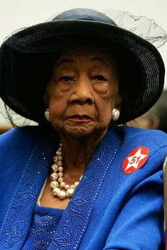 My line sister's great aunt, Delta Sigma Theta's, Dorothy Irene Height.