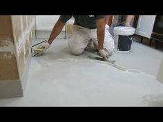 Microcemento sobre azulejos de gres en suelo de cocina - YouTube