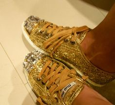 Miu Miu sparkle sneakers!!   <3