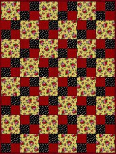 Mary Engelbreit Roses Pre-Cut Quilt Blocks Kit from Quilt Kit Shop