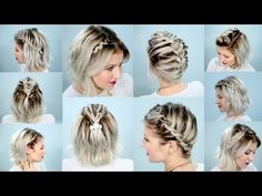 10 EASY UPDO Tutorials FOR SHORT HAIR | Milabu - YouTube