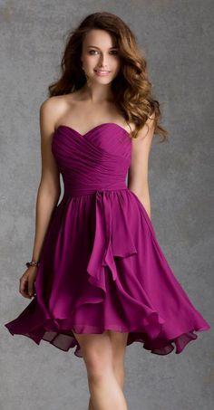 Berry bridesmaid dress