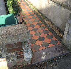 Victorian Tiles, Corridor, Pathways, Sidewalk, Yard, Exterior, House, Fine Art, Patio