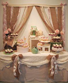 ribbon dessert table