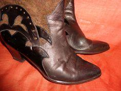 Vintage Stiefel - Schuhe*Stiefel*Vintage*Leder*braun* - ein Designerstück von SweetSweetVintage bei DaWanda