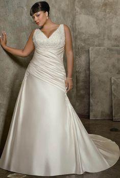 estilo vintage moderno - vestidos de novia para gorditas 2015