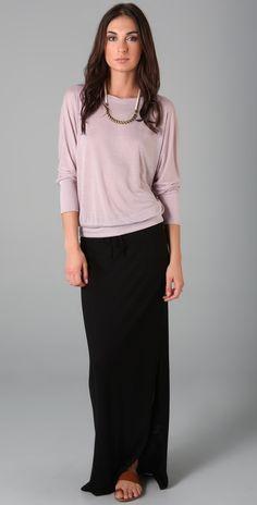 Cute...maxi skirts still work in the fall