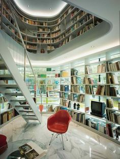 Thuisbibliotheek / Home library Home Library Design, Modern Library, Dream Library, House Design, Library Ideas, Future Library, Mini Library, Beautiful Library, Library Room