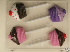 CUP CAKE CHOCOLATE VALENTINE CANDY MOLD LOLLIPOP #ConceptsinCandy