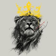 Lion king illustration - High quality htc one wallpapers and abstract backgrounds designed by the best and creative artists in the world. Lion Tattoo Design, Tattoo Designs, Shirt Designs, Lion Design, Lion Wallpaper, Lion Pictures, Kings Man, King Art, Lion Of Judah