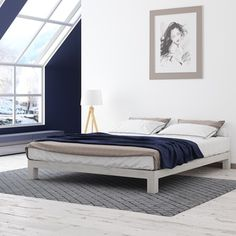 Shop for Motif Design Aura White Platform bed. Get free shipping at Overstock.com - Your Online Furniture Outlet Store! Get 5% in rewards with Club O!