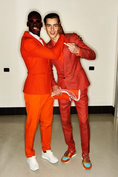 Salvatore Ferragamo SS13 Men Fashion Show Milan Backstage, click to see more colourful backstage pictures.