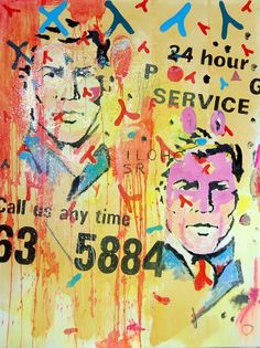 """""""Call Us Anytime"""" Artist: IRENEO FRIZZARIN 153x123cm acrylic on canvas"""