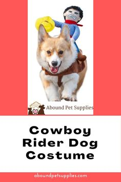 """CUTE COWBOY DOLL:""""Look""""! A funny cowboy with a rein in his hand who rides on the dog is coming to us. When you walk your dog in the street, these dog costumes will catch lots of people's attention! CONVENIENT AND ADJUSTABLE."""