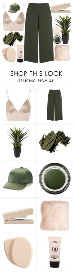"""""""we can stay forever young"""" by miss-t-swizzle ❤ liked on Polyvore featuring T By Alexander Wang, Cameo, Bobbi Brown Cosmetics, Mudd, Giorgio Armani, Pillow Decor, Clé de Peau Beauté, Christian Dior, Pink and GREEN"""