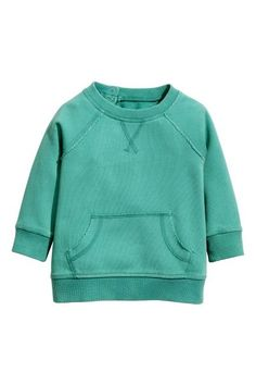 Sweatshirt - Dark turquoise - Kids | H&M GB