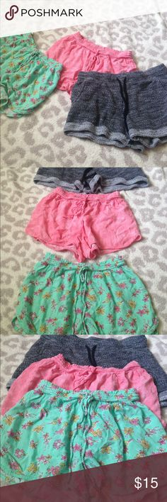 Xhilaration (s) Xhilaration (s) and MOSSIMO (xs) Pink Xhilaration shorts (s) Green Xhilaration shorts (s) and gray/black MOSSIMO shorts (xs) all fit like an extra small Xhilaration Shorts