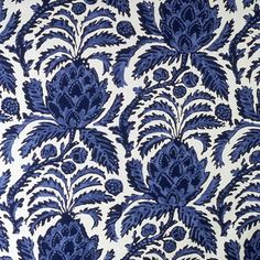 "Brunschwig and Fils ""Bromelia Resist"" Fabric Drapery Panels on Etsy, $1,552.00"