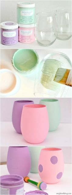 How to make Easter Egg Inspired Vases by A Night Owl Blog for Tatertots and Jello #DIY #decoartprojects