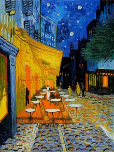 Van Gogh - Cafe Terrace at Night Animation - Randall Holl