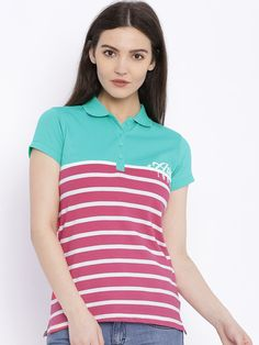 Buy HARVARD Pink Polo T Shirt - Tshirts for Women | Myntra ...