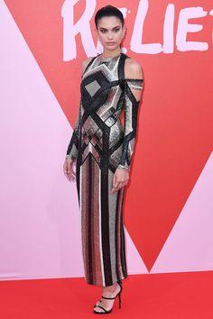 Sara Sampaio in Balmain   2017 Cannes Film Festival
