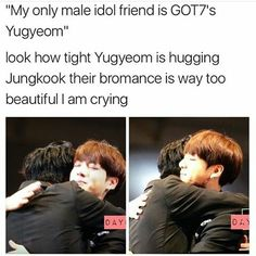 #gotbang #got7 #bts | The way they're hugging each other makes me tear up. Their friendship is so beautiful. -@BeautyandthePoet