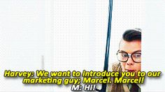 MARCEL. YOURE KILLING ME HERE {GIF}