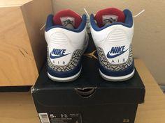 716cba76d53c82 Nike Air Jordan Retro 3 True Blue 5Y 6.5W - Slightly used with OG Box