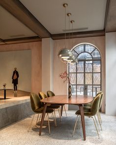 After five years of renovations to a heritage-listed mansion, Chinese lifestyle brand Beast and Danish design company Gubi have unveiled a boutique hotel and café on a quiet street in Shanghai's former French Concession. Australian Restaurant, Keys Hotel, Beetle Chair, Dining Chairs, Dining Table, Dining Room, London Property, Carlo Scarpa, Old Mansions