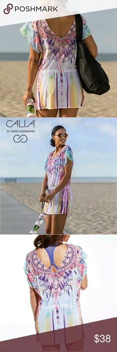 NWT Calia tropical Havana kaftan cover up NWT Calia by Carrie Underwood tropical Havana kaftan cover up  in size large. CALIA by Carrie Underwood Swim Coverups