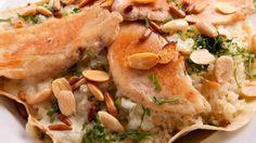 وصفة الأرز الكريمي بالدجاج