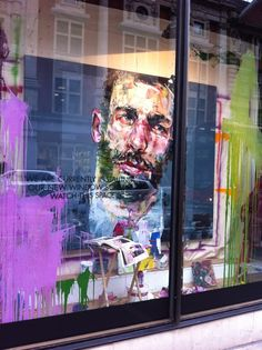 art and shop windows by Andrew Salgado for Harvey Nichols