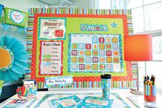 Dots on Turquoise Designer Classroom Décor