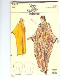 Vogue 8576 Vintage Caftan Pattern Because this weather is TOO DARN HOT!