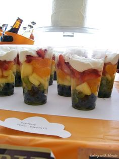 Rainbow Fruit Parfaits for UP Birthday Party