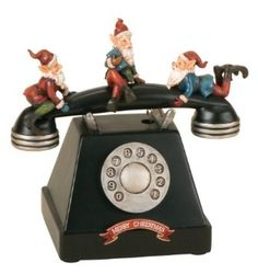 Amazon.com: Retro Action Musicals by Roman Action Musical Old style Telephone with Elves 8-1/4-Inch: Home & Kitchen