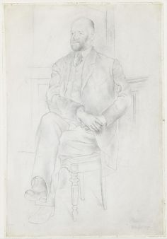 Ambroise Vollard (graphite on paper), by Pablo Picasso, 1915