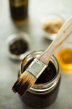 Balsamic BBQ Sauce by jellytoast: While this sauce is not spicy, it is seriously sassy. Smooth, silky and just thin enough that it can be brushed over ribs, chicken or even shrimp to caramelize into the best glazed BBQ youve ever made. #BBQ_Sauce #Balsamic_Vinegar