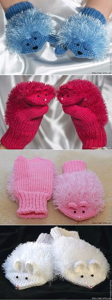 Baby Knitting Patterns Mitten MISS. Knitting with needles for children Baby Knitting Patterns, Knitting For Kids, Loom Knitting, Crochet For Kids, Free Knitting, Knitting Projects, Crochet Patterns, Crochet Baby Mittens, Crochet Gloves