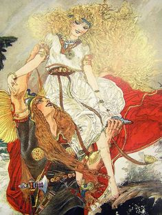 """""""Betty and Billy and their Love Through the Ages: The Bride of the Viking"""" by Nell Brinkley"""