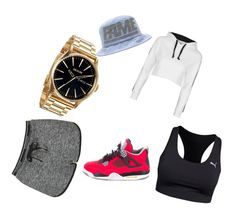 Summer Bang by lilcarmelmami on Polyvore featuring polyvore fashion style Topshop Puma Stussy Nixon NIKE clothing