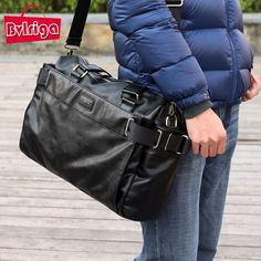 BVLRIGA Men messenger bags mens leather big size shoulder bag famous designer brands high quality men's travel bags high quality <3 Detailed information can be found by clicking on the VISIT button